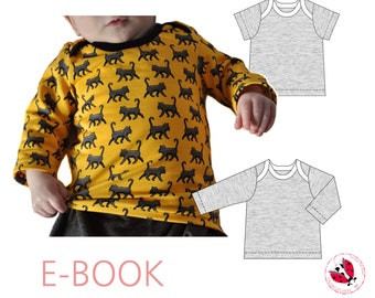 pdf - babyshirt kids sewing pattern Gr. 50-110 (Sizes Newborn-5T)
