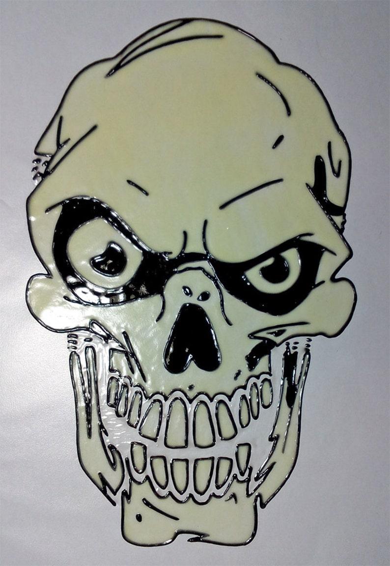 window color fensterbild fenstersticker ablösbar totenkopf