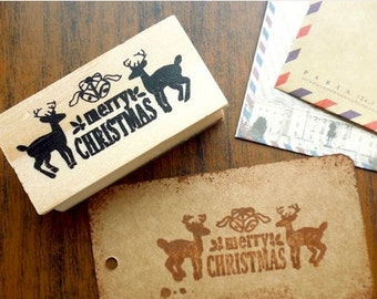 Stamped Merry Christmas stamp Christmas stamps