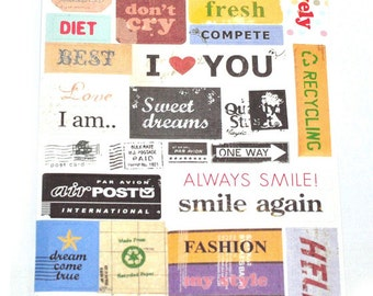 Sticker set to the Filofaxen and more - 6 sheets