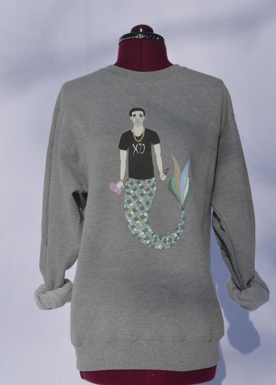 Sad Mermaid Drake Sweatshirt NyN09mz