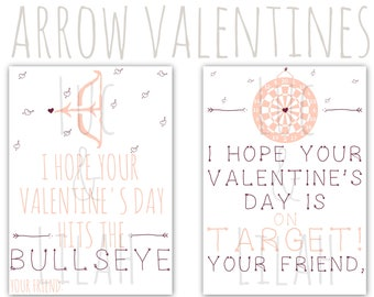 Bullseye valentine etsy arrow valentines day cards archery valentines day cards bullseye valentines darts valentines thecheapjerseys Choice Image