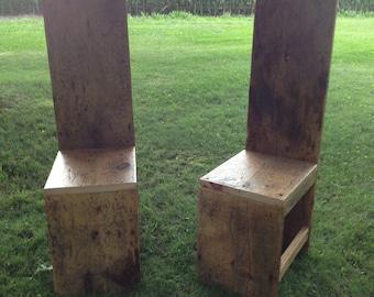 Barnwood Highback Chairs (Set of 2)