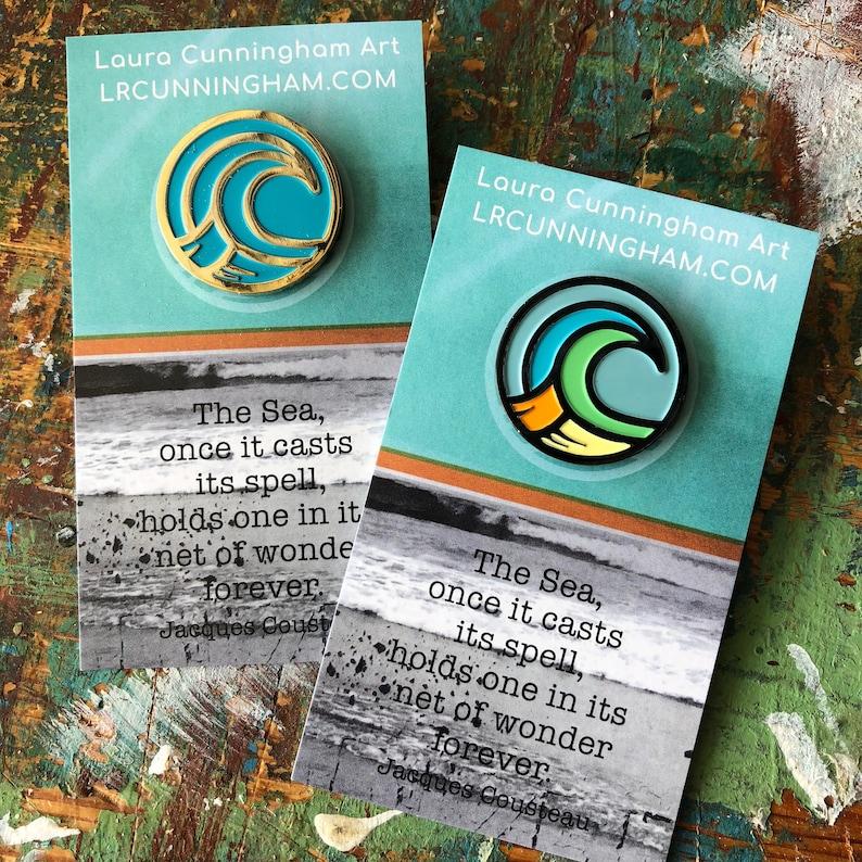 Wave Logo Enamel Pin image 0