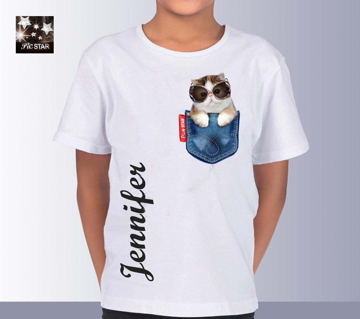 Pet Persian Cat 2 in a Jean Pocket T-Shirts custom t  432c22284215