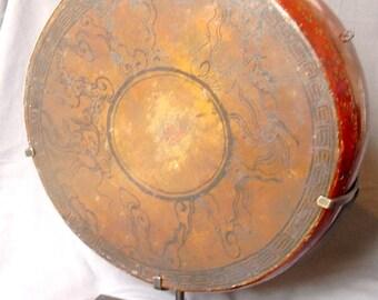old tibetan drum