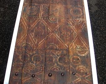 Coffee table, old Berber Moroccain door, old painted wooden door, ethnic tribal furniture, Morocco Berber ethnic tribal art