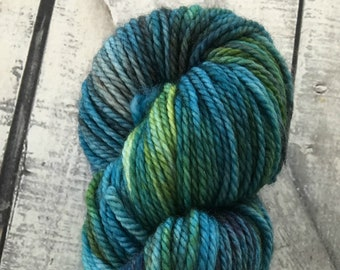 Hand Dyed Yarn-Sweater Toad-Dickon colorway from the Secret Garden-100 grams-Indie dyed yarn-188 yards-100 superwash -Toad Hollow Yarns