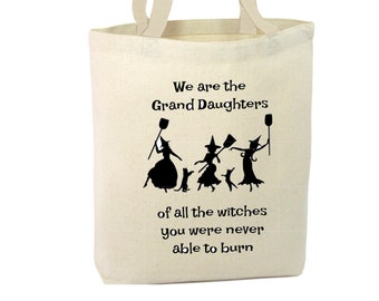 Heavy Duty Canvas Tote Bag - We Are The Granddaughters,Fun Tote Bag,Beach Tote Bag,The Toad's Totes,Shopping Tote,Reusable Tote, Project Bag