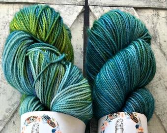 Hand Dyed Yarn - Dickon, The Secret Garden Collection, Fingering Weight,80/20 Superwash Merino-Nylon,100 gram,Toad Hollow yarns,Spring