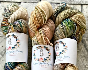 Hand Dyed Yarn,ORCAS ISLAND,Multi color speckled yarn,2 ply,80/20 Superwash Merino,100 gram,indie dyed yarn,knit & crochet,Toad Hollow yarns