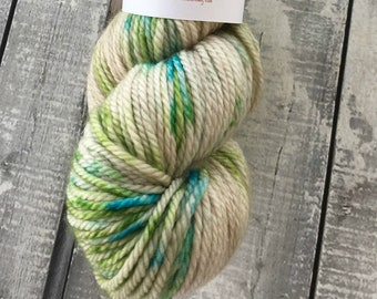 Hand Dyed Yarn, Sea Glass,Worsted Aran Weight,3 ply,100 Superwash Merino,100 grams,indie dyed yarn,knit & crochet,Toad Hollow Yarns