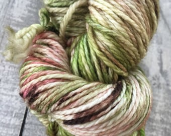 Variegated Hand Dyed Yarn-Hydrangea from our Secret Garden Collection, Aran/Worsted Weight,100% Superwash Merino,Toad Hollow yarns, 188 yds