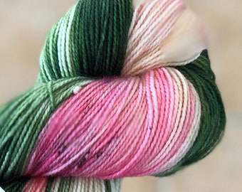 Variegated Hand Dyed Yarn-Hydrangea from our Secret Garden Collection, Fingering Weight,80/20 Superwash Merino-Nylon blend,Toad Hollow yarns