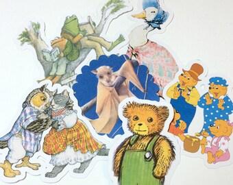 Storybook Die Cuts,Digital Download,Cut Outs,Scrapbooking,Scrapbooking Die Cuts,Children Books Die Cuts,Printables,Storybook Baby Shower
