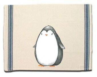 Penguin Kitchen Towel, Penguin Lovers Gift, Tea Towel,Flour Sack Material,Arctic Animals Dish Towels, Whimsical Towel,Dish Cloth