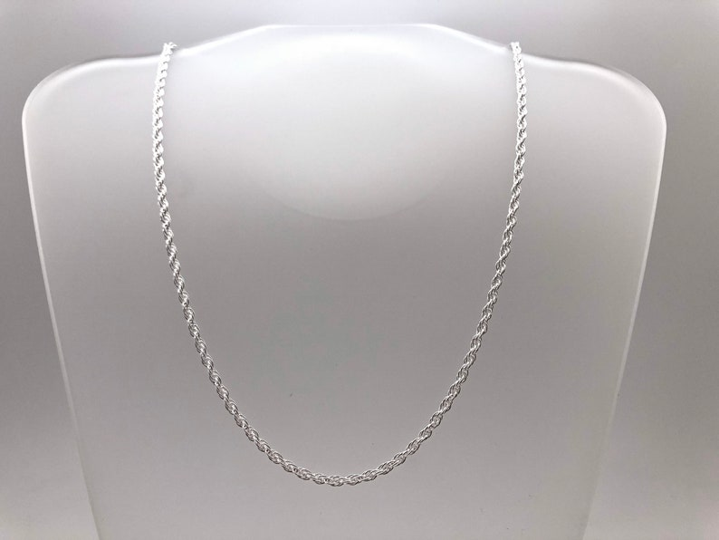 Rope Chain  Loose Rope Chain  Loose Rope Silver Chain  Medium Size Pendant Chain  Silver Pendant Chain  All Sizes