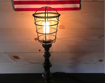 Edison Lamp, Steampunk Lamp, Light House Lamp, Lighthouse Lamp, Steampunk Lighting, Pipe Fitting Lamp, Pipe Lamp, Table Lamp, Desk Lamp