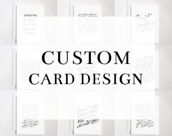 Custom Card Design (Digital Download) | Custom Calligraphy Card, Holiday Card, Christmas Card, Custom Holiday Card, Custom Christmas Card