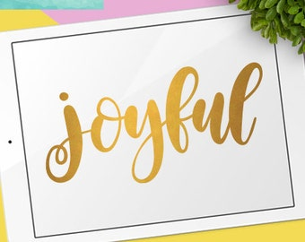 Christmas SVG Cutting Files /  Joyful SVG Files Sayings / Holiday SVG for Cricut Silhouette / Winter Svg Commercial Use Ok / Christian Svg