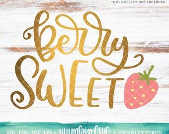Strawberry Svg Etsy