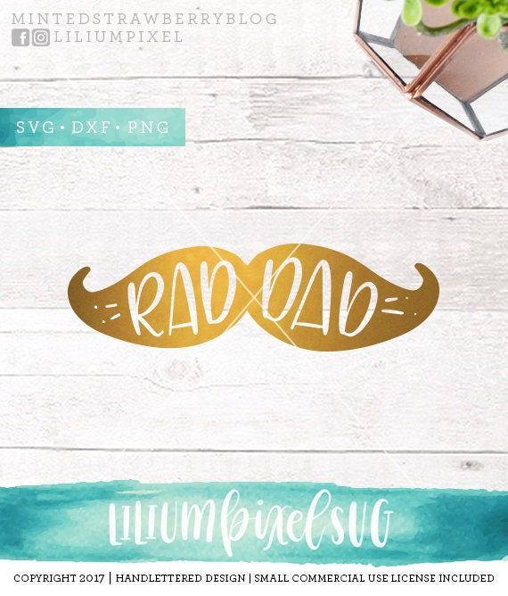 Rad Dad Svg Cut Files Fathers Day Svg Cutting Files Father Etsy