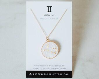 Zodiac Constellation Necklace // Aries, Taurus, Gemini, Cancer, Leo, Virgo, Libra, Scorpio, Sagittarius, Capricorn, Aquarius, Pisces