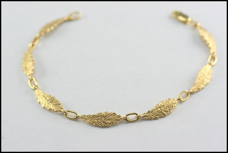 69f23d216797 Pulsera de oro macizo pulsera de la hoja de oro pulsera