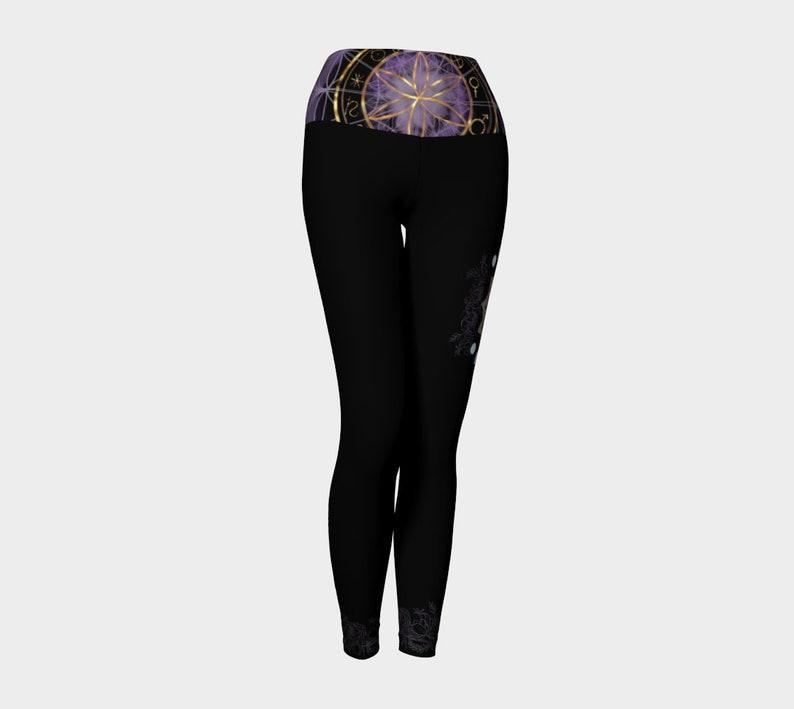 yoga gifts, witchy legging sacred geometry leggings moon lover gifts boho leggings boho design art leggings celestial yoga pants