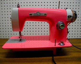 Vintage 1950's Sewing Machine painted Pink .