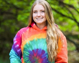 Sweethearts Tie Dye crewneck  Adult or Toddler Ombre Sleeves Cascading Hearts