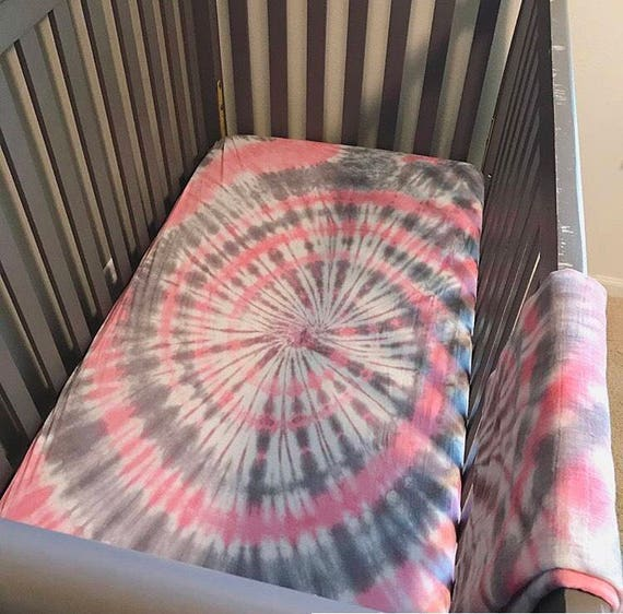 Tie Dye Crib Sheets Sheet Set, Tie Dye Nursery Bedding