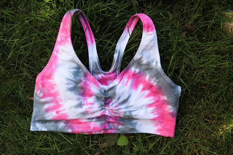 Tie Dye Sports Bra Sizes: S-3XL Michigan Made Handmade Hippie