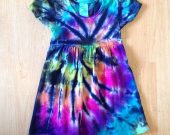 Tie Dye Baby Dress - Little Hippie - Handmade - Michigan made - Sizes : 0-3 months, 6-12 months , 12-18 months and 2T-4T!