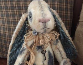 Primitive Bunny|Primitive Rabbit|Handmade Bunny|Handmade Rabbit|Vintage Bunny|Vintage Rabbit|Plush Bunny|OOAK Bunny|Antique Style Bunny