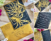 Mardi gras mask party invitation laser cut masquerade ball wedding invite masked princess sweet sixteen