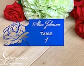 Beauty and the Beast inspired Laser Cut rose wedding Fairytale place cards table number