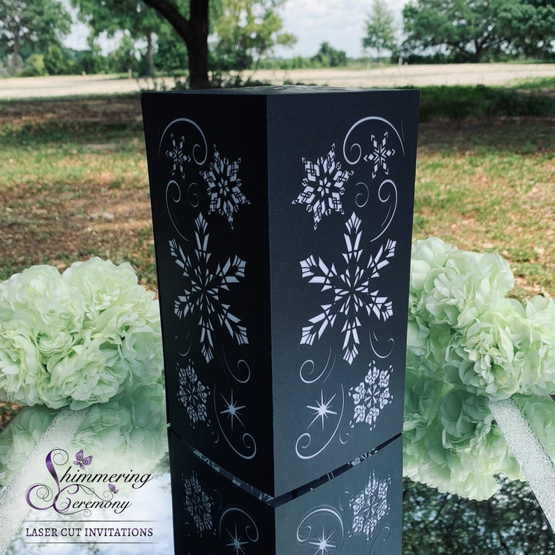 Incredible Snowflake Winter Wedding Centerpiece Large Laser Cut Paper Lantern Luminary Snow Falling Christmas Party Download Free Architecture Designs Remcamadebymaigaardcom