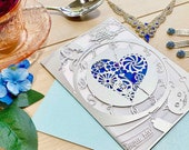 Alice in wonderland laser cut invitation wedding inspired tea party down the rabbit hole and through the looking glass