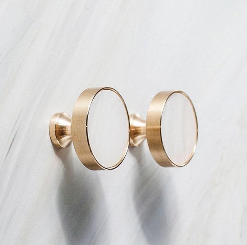 Nordic Wardrobe Brass Door Knobs Drawer Knobs Modern Furniture Handle  Hardware