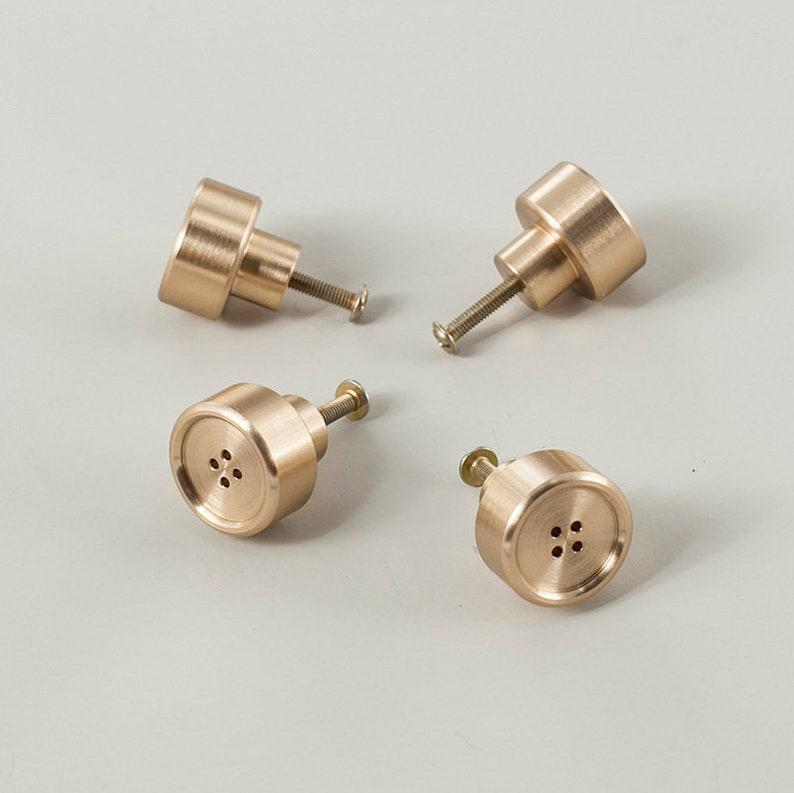 Nordic Brass Knob Wardrobe Knob Simple Door Knob Drawer Knob