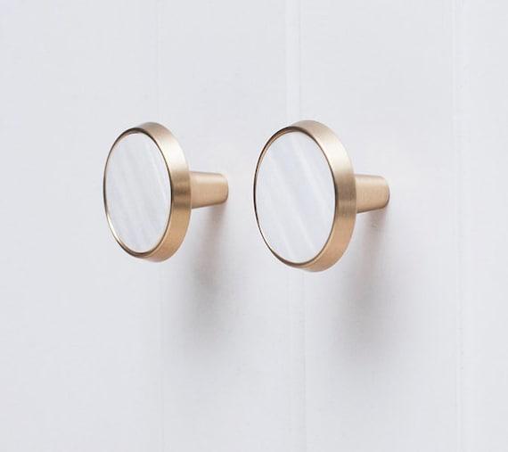 Nordic Modern Brass Drawer Knob Door Knob Simple Wardrobe Door Knob  American Decorative Knob