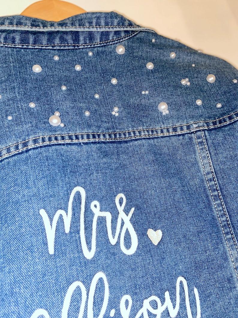 Custom Bridal Jean Jacket