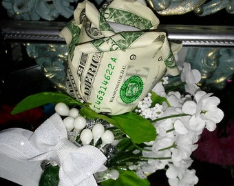 Origami money roses etsy money roses cash dollar roses corsage mothers day wedding bouquet maid of honor sweetest day fathers day groom gift best man gift mightylinksfo