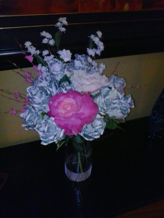 Money Roses Dollar Flowers Spendable Cash Bouquet Origami