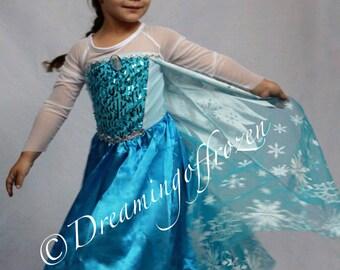 Princess Elsa inspired Dress 20125 Princess Elsa Halloween costume Frozen