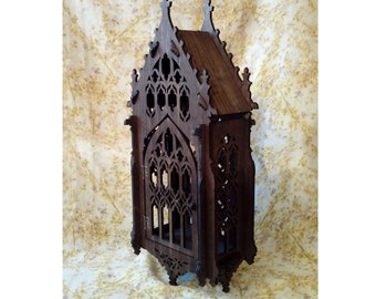 Huge Gothic shelf ,cupboard, medieval inspiration, the oriel window, medieval furniture