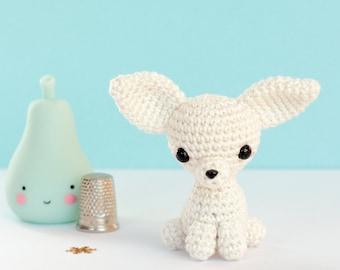 Miniature crochet plush chihuahua, Amigurumi chihuahua, Plush dog, Miniature dog, Amigurumi dog, Crochet chihuahua, Crochet dog, Dog lover