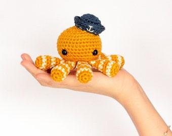 Amigurumi poulpe crochet, Poulpe amigurumi au crochet, Amigurumi pieuvre crochet, Pieuvre amigurumi, Doudou marin, Décoration chambre bébé