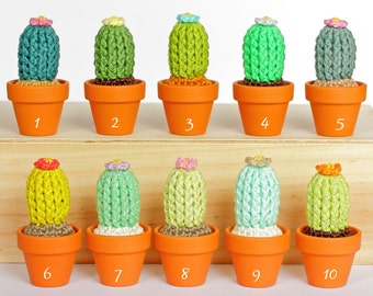 Crochet cactus, Amigurumi cactus, Artificial cactus, Crochet plant, Crochet home decor, Desk decorations, Housewarming gift, Baby room decor